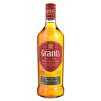 Whisky Grant's Triple Wood Blended Scotch 70cl
